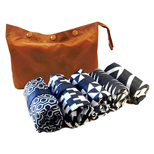 Envirosax TT.P5 Two Tone Pouch, Set of 5 Shopping Reusable Grocery Bags, Multicolored ()