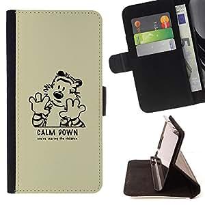 KingStore / Leather Etui en cuir / Apple Iphone 5C / Calma tigre de Down