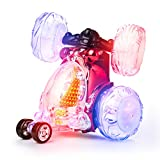 Playtech Logic Boys Girls Flashing Remote Control Stunt Car for Kids | OFFICIAL Licensed Invincible Tornado Turbo Twister Light Up Toy RC Cars for Kids | Sound On/Off, Rechargeable