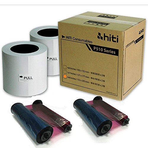 "HiTi P510 6x8 Ribbon & Paper Case, for Total of 330 6x8"" Prints"