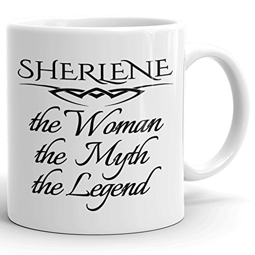 Best Personalized Womens Gift! The Woman the Myth the Legend - Coffee Mug Cup for Mom Girlfriend Wife Grandma Sister in the Morning or the Office - S Set 4