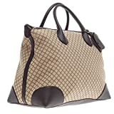 Gucci Brown Diamante Canvas and Leather Travel Carry On Tote for Men 374226