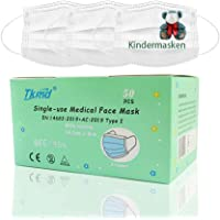 Medische kinderen gezichtsmaskers 3-laags wegwerp beschermende maskers voor kinderen 50 stuks EN14683 type I BFE 95% CE…