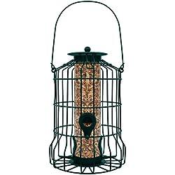 GrayBunny GB-6860 Caged Tube Feeder, Squirrel Proof Wild Bird Feeder