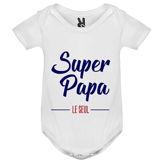 98e15e89a5fdc My-Kase Body bébé - Super Papa - Enfant - Blanc - 9MOIS  Amazon.fr ...