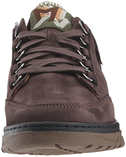 Mephisto Womens Natasha Oxford Marrone Scuro Nubuck / Seta