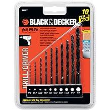 Black & Decker OEM 15557 Juego de brocas para taladro de 10 piezas, descuentos por cantidad.