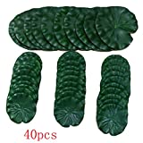 hilingo Artificial Lily Pad Floating Foam Lotus Leaves Foliage Pond Decor Pack of 40: more info