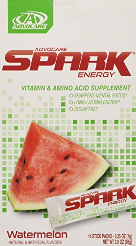 Advocare Spark Energy Drink 14 Single Serve Pouches (Watermelon)