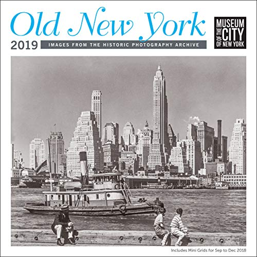 White Photo Wall Calendar - Old New York MCNY Wall Calendar 2019 Monthly January-December 12