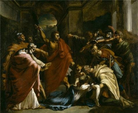 The Perfect Effect Canvas Of Oil Painting 'Jean Louis Andre Theodore Gericault,The Oath Of Brutus After The Death Of Lucretia,about 1815-1816' ,size: 18x22 Inch / 46x56 Cm ,this Amazing Art Decorative Prints On Canvas Is Fit For Foyer Artwork And Home Decor And Gifts