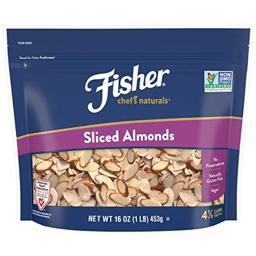 FISHER Chef's Naturals Sliced Almonds, 16 oz, Naturally Gluten Free, No Preservatives, Non-GMO