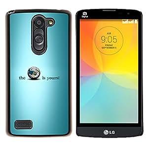 "Be-Star Único Patrón Plástico Duro Fundas Cover Cubre Hard Case Cover Para LG L Prime / L Prime Dual Chip D337 ( Blue Earth Is Yours Planet Inspiring"" )"