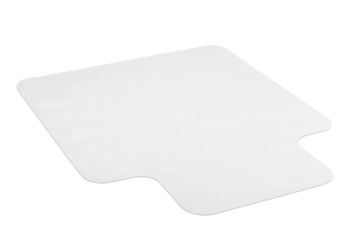 Mount-It! Clear Chair Mat for Carpet, Non-Slip Studded Office Chair Floor Protector, Heavy-Duty Non-Toxic PVC Material, Use in Home or Office, 47'' x 35.5''
