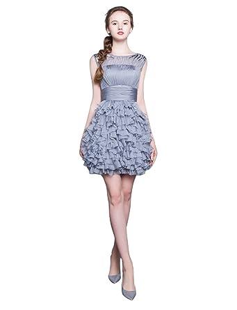 afdc40f5cf3 Beauty-Emily Satin plissé sans bretelles sans manches mini robe de ...