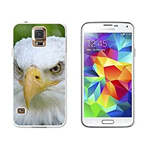 New Style Bald Eagle Staring - Raptor Bird of Prey - Snap On Hard Protective Case for Samsung Galaxy S5 - White