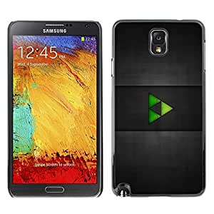 GagaDesign Phone Accessories: Hard Case Cover for Samsung Galaxy Note 3 - Green Triangles