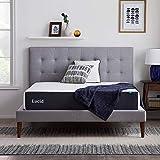 LUCID 10 Inch 2020 Gel Memory Foam Mattress - Medium Plush Feel - CertiPUR-US Certified - Hypoallergenic Bamboo Charcoal (Queen)