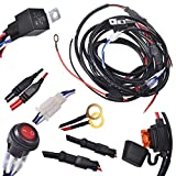KAWELL® 2 Legs Wiring Harness Include Switch Kit Suppot 300W LED work light LED Light Bar Wiring Harness and Switch Kit