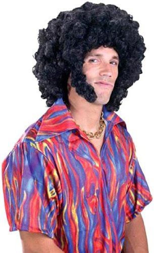 Afro with Chops Wig Costume