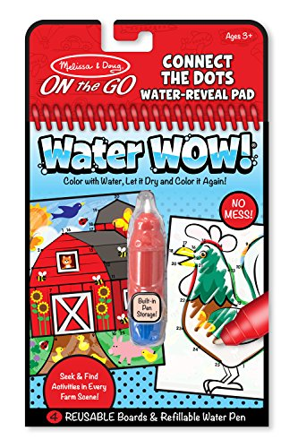 Melissa & Doug On the Go Water Wow! Reusable Water-Reveal Activity Pad - Connect the Dots Farm from Melissa & Doug
