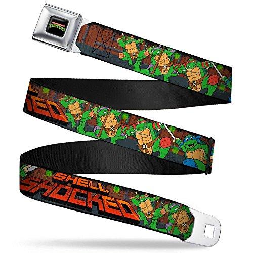 - Buckle-Down Seatbelt Belt - Classic TMNT Turtles Pose15 SHELL SHOCKED Brick Wall/Splatter - 1.5