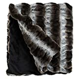 Fabulous Furs: Faux Fur Luxury Throw Blanket, Grey Chinchilla, Available in generous sizes 60''x60'', 60''x72'' and 60''x86'', by Donna Salyers