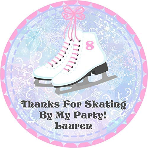 Ice Skating Birthday Party Favor Tags or Label Stickers Ice Skating Party Favor Hang Tags Ice Skating Party Supplies Ice Skating Party Favor Label Ice Skating Party Favor