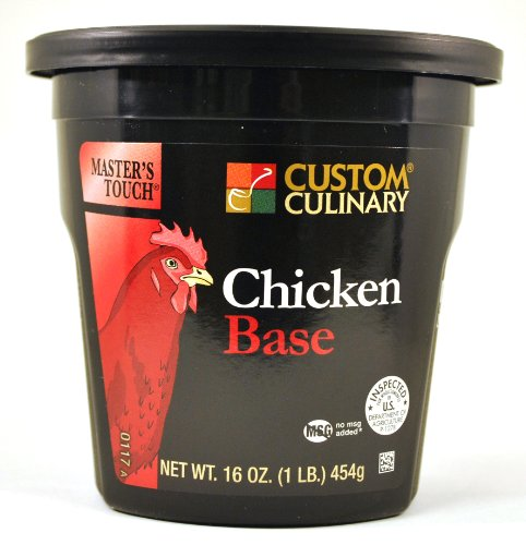 Custom Culinary Master's Touch Chicken (no Msg) Base, 16-Ounce Plastic Jars (Pack of ()
