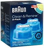 Braun New Super Size Package Syncro Shaver System Clean & Renew 8 Count