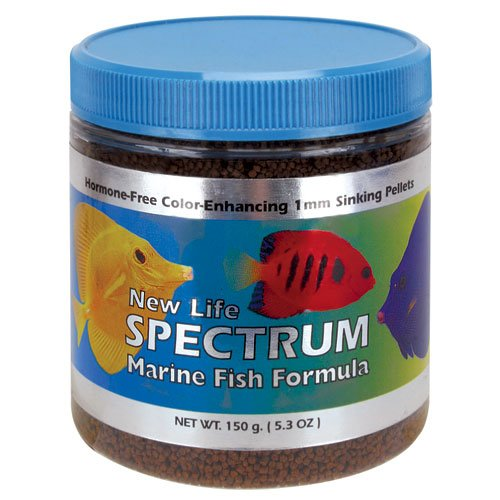 New Life Spectrum Marine Fish Formula 1mm Sinking Pellet Fish Food, My Pet Supplies