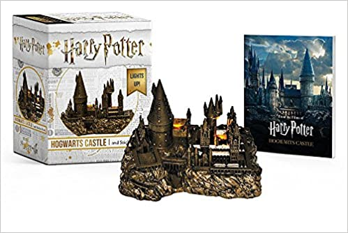 amazoncom harry potter hogwarts castle and sticker book lights up miniature editions 9780762464401 running press books