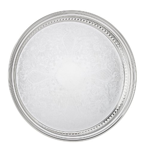 (Reed & Barton 410 Gallery Round Tray, 13-Inch)