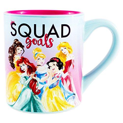 (Disney DN1332 Princess Squad Goals Ceramic Mug, 14-Ounces, Multicolor)