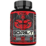 GORIL-T | Men's Testosterone Booster (60 Tablets) #1 Formula | All Natural | Increase Test Levels - Boost Energy, Strength, Metabolism! Promotes Healthy Weight Loss | Male Performance Supplement