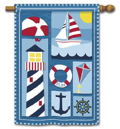 Nautical Day Summer House Flag