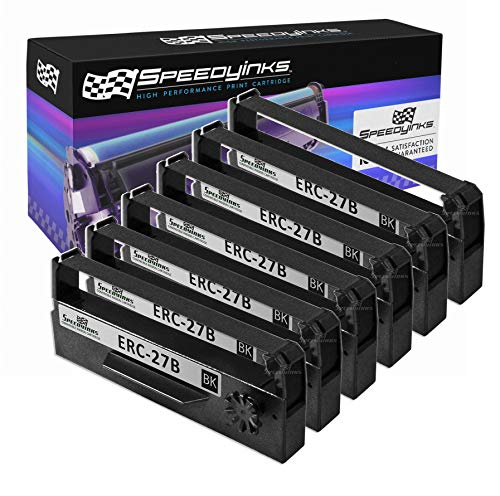 Speedy Inks Compatible POS Ribbon Cartridge Replacement for Epson ERC-27B (Black, 6-Pack)