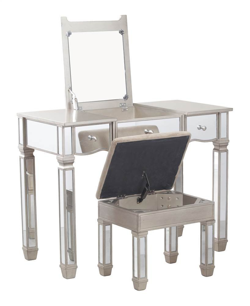 Powell 14V8121 Rodeo Vanity, Silver Mirrored by Powell
