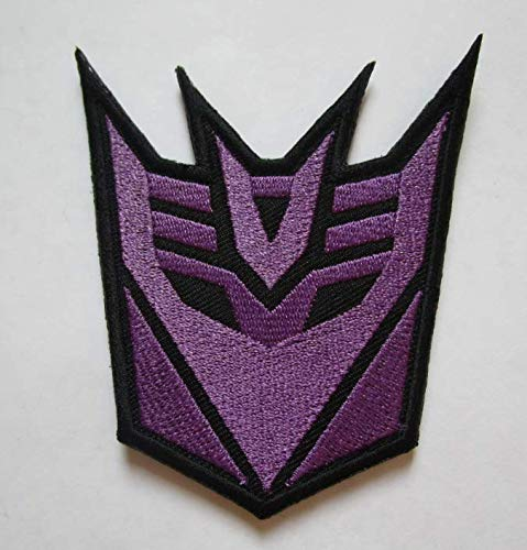 Decepticons Transformers Military Patch Fabric Embroidered Badges Patch Tactical Stickers for Clothes with Hook & Loop (color2) -