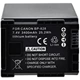 Xit XTBP828 3400mAh Lithium Replacement Battery for Canon BP-828 (Black)