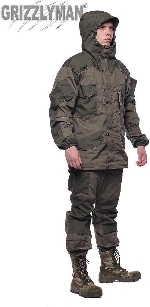 GRIZZLYMAN Traje de uniforme ruso Gorka-5 Premium | caza, pesca, camping, arbustos | resistente al viento y al agua | Tejido antidesgarro | Reino Unido