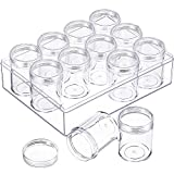 Blulu Clear Bead Organizer Bead Storage Containers Set with 12 Boxes, 1.9 x 1.5 Inches (1.9 x 1.5 Inches): more info