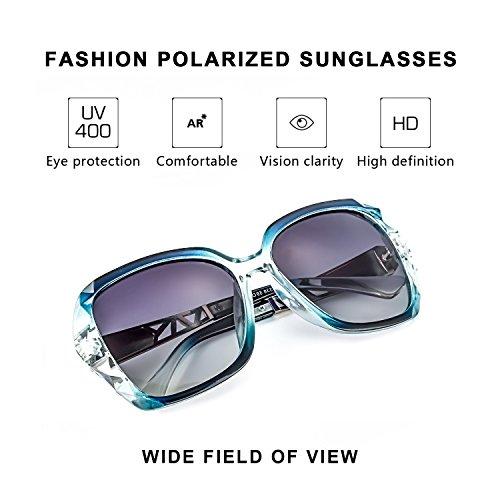de Contre Protection Nocifs Les Grande UVA Femme Classiques Vintage Polarisées UVB Soleil Bleu Rayons 100 Lunettes 5qT7wxz8