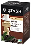 Stash Tea White Chocolate Mocha 18 Count Teabags in Foil (Pack of 6) Individual White Tea Bags for Use in Teapots Mugs or Cups, Brew Hot Tea or Iced Tea