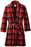 Calvin Klein Big Boys' Plush Plaid Robe