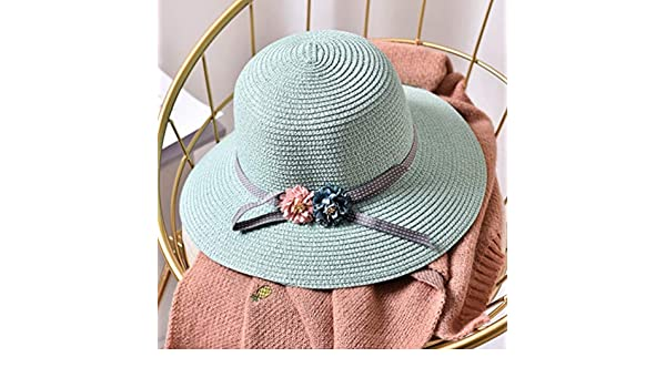 f0f4a157732 Amazon.com   DOMREO Beach Hat All-Match Women Sun Hat Wide Brim Stripe  Anti-uv Outdoor Casual Travel Ladies Hats Straw Hat Parent-Child Caps    Sports   ...