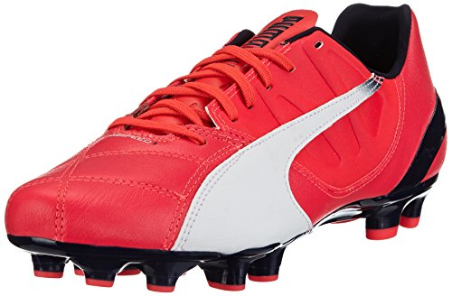 Puma evoSPEED 3.3 FG, Herren Fußballschuhe, Rot (bright plasma-white-peacoat 03), 42 EU (8 Herren UK)