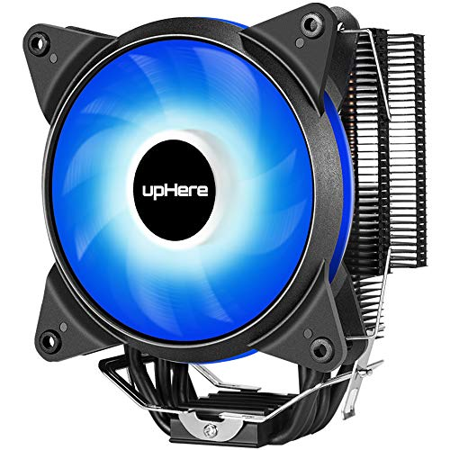 upHere New CPU Cooler with 4 Direct Contact Heatpipes, AC Blue LED Fan,AC12BE