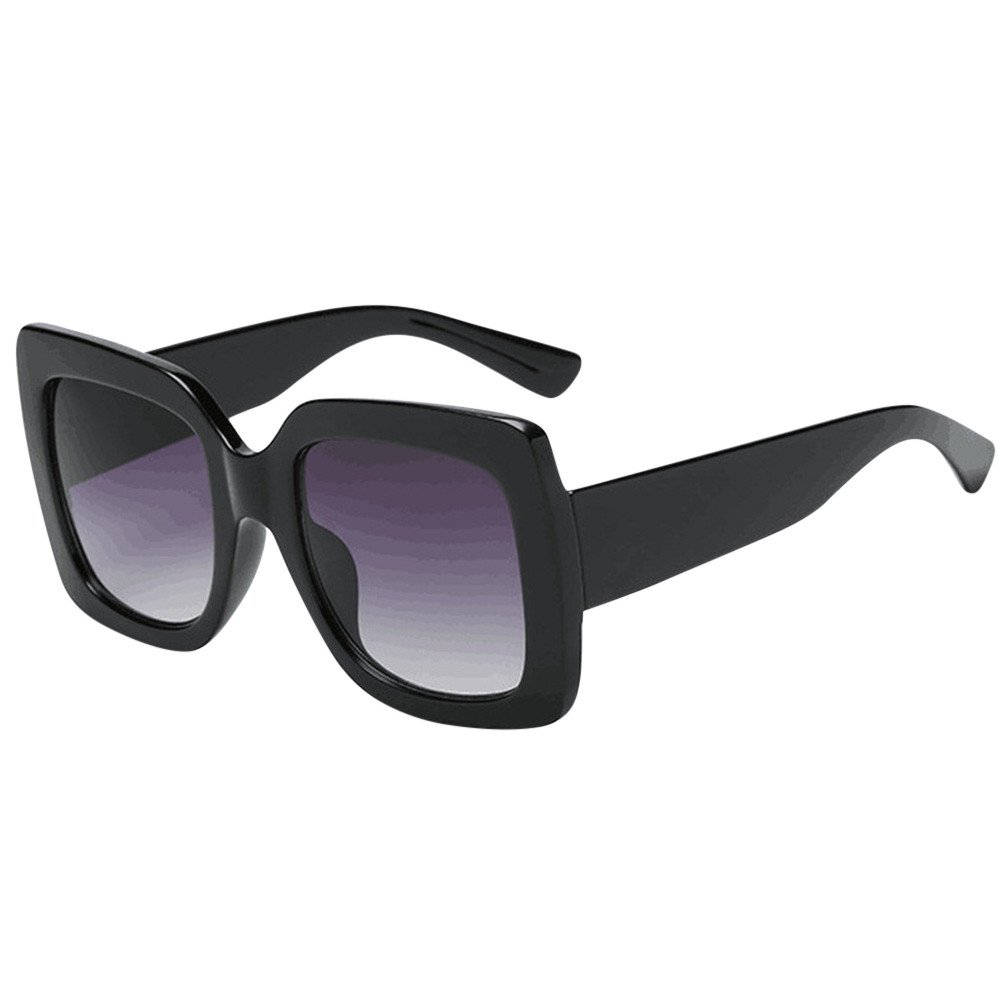 Lenfesh Women Glasses, Fashion Square Oversized Luxury Gradient Lens Sunglasses Retro Vintage Large Frame Eyewear (A) (A) Lenfesh-001
