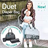 nanobebe Breastmilk Baby Bottle Cooler & Travel Bag with Ice Pack Included. Compact Triple Insulated, Easily attaches to Stroller or Diaper Bag- Grey